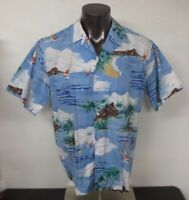 Vintage Hilo Hattie Colorful Hawaiian Shirt XL Aloha Colorful Rainbow Island USA