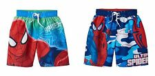 NWT Boys Character Swim Trunks Swimsuit Marvel Spiderman Camo 4/5 6/7 $24