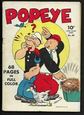 1943 Dell Four Color #26 Popeye VG- 3.5