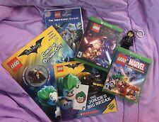 XBOX ONE Lego Marvel Star Wars Batman Books Jurassic World DVD Media LOT