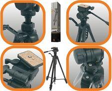 Noir 1,6 m 1,7 kg Pro grade caméra trépied avec effet fluide 3 way pan / tilt head