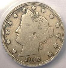 1912-S Liberty Nickel 5C - ANACS F12 Details - Rare Key Date Certified Coin!