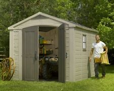 keter factor 8 x 11 plastic garden shedgarage storage free next day delivery