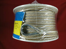 "ANCHOR LINE 3/8"" X 100' BRAIDED NYLON GOLD & WHITE SEACHOICE 42321"