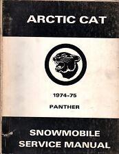 HUGE 1974 & 1975 ARCTIC CAT PANTHER SERVICE MANUAL PARTS+  (104)