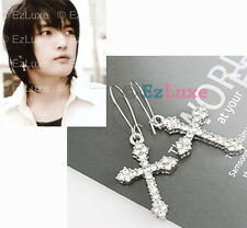 Korean Tohoshinki TVXQ DBSK Hero Cubic Cross Earrings crystal