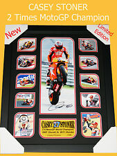 SALE! CASEY STONER MOTO GP MEMORABILIA SIGNED FRAME, LIMITED EDITION 500, C.O.A