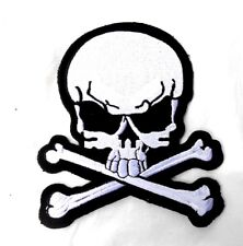 Biker Chopper Skull Wing Teschio Metal skullwing aufbügler ricamate patch NUOVO