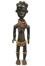 Art Africain - Ancienne Statue de Fécondité Fanti du Ghana Ornée de Perles +++++