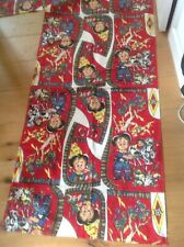 Vintage Curtains Cotton Fabric Panels - Child Cowboy, 1950's 60s Crafts Cushions