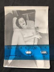Vtg 70's Pinup Girl Snapshot Risque Nylons Nude Spread Eagle B&W Photo lot F3