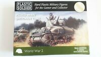 ALLIED M4A1 SHERMAN TANK: Plastic Soldier World War 2 boxed 15mm kit