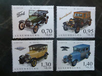 2016 LUXEMBOURG CARS OF YESTERYEAR SET OF 4 MINT STAMPS MNH