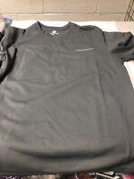 New Balance Mens Athletic Shirt Reflective Logo Active Tee-- GREY Small