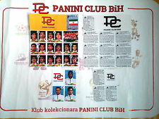 PANINI VALUE PACK FRANCE 98 IRAN + 3x RARE ENGLAND PLAYERS SHEET PHOTOCOPY Ver 1