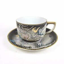 Vintage Japan Tea Cup Dragon Saucer Hand Painted Geisha Inside Dragonware