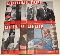 Lot of LIFE MAGAZINE from 1947 >>> 12 Different Complete Issues (VG-Excellent)