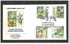 2011- Tunisia- Tunisie- Medicinal Plants- Plantes Médicinales (4 V.Set) FDC
