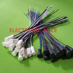 1 -100pcs G4 Base Holder Wire Adapter Halogen Socket Connector f. Bulb Lamp LED