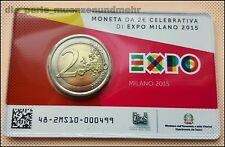2 Euro Gedenkmünze Italien 2015 BU - Expo 2015 Mailand - Coincard BU - Neu
