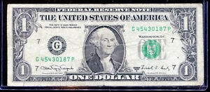 1988A $1 Web Press Note *Rare* GP G-P Block Run 08 Combo 04/08 G45430187P F NR!