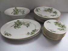 Lot of Embassy Ivy / Vine Vitrified China USA Dinner Plates Bowl Platters Plates