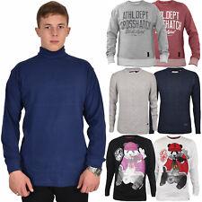 Mens Jumpers Long Sleeve Pullover Regular Cotton Sweatshirt T-Shirts Top S - XL