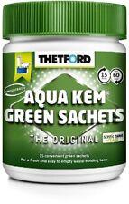 Camping Sanitärmittel Thetford Aqua Kem Green Sachets 15 Stck WC Toiletten