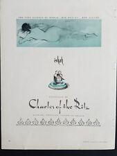 1951 Charles of the Ritz IZHAH perfume essence of nude woman Rene Bouche art ad