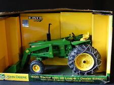 Ertl John Deere 4020 & 48 Loader Tire Chain Farm Tractor 1:16 Diecast Dealer Toy