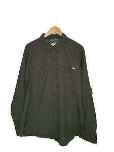 COLUMBIA Mens Khaki Long Sleeve Omni-Shade Sun Protective Shirt - Size L/G