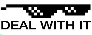 Deal With It Sticker Decal   JDM Meme Glasses