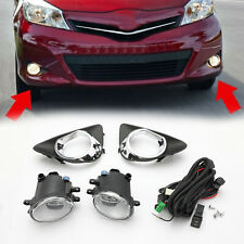Pair Fog Light W/Switch Wiring Cover Kit For 2012 2013 2014 Toyota Yaris Hatch B