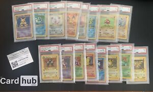 COMPLETE SHADOWLESS SET 102/102 - GRADED HOLOS, RAW NON HOLO NM/MINT - Charizard