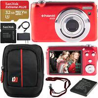 Polaroid iEX29 18MP 10x Optical Zoom Compact Digital Camera with HD Video Bundle
