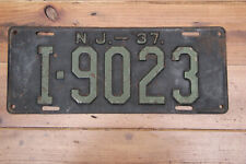 American license plate New Jersey 1937 Somerset county # I9023