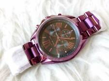 Michael Kors Bradshaw  Plum Oversized Unisex Chronograph Watch
