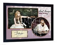 Avril Lavigne  SIGNED FRAMED PHOTO AND Goodbye Lullaby CD Disc