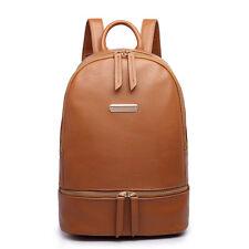 Women Girls Faux Leather/Oilcloth Skull Backpack School Travel Shoulder Bag