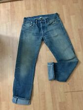 RRL Ralph Lauren Jeans Style #41381 Japanese Selvege Made USA Button Fly 30x32