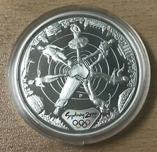 AUSTRALIA 2000 SILVER PROOF $5 1OZ OLYMPIC COIN -REACHING THE WORLD SPORT & ARTS