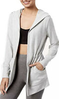 Ideology Women's Hooded Fitness Cardigan Grey Size Extra Large MSRP 49