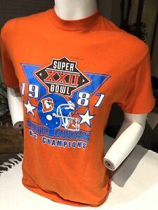 Denver Broncos vintage Super Bowl 22 AFC Champions Mens L shirt tee NFL Football