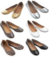 WOMEN'S CASUAL COMFORT ROUND TOE SLIP ON BALLET FLAT SHOES   5-10