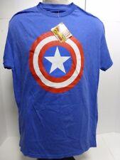 Marvel Universe Captain America Shield T-Shirt, Royal, M
