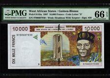 West African States/Guinea Bissau:P-914Sa,10000 Francs,1997 * PMG Gem UNC 66 EPQ