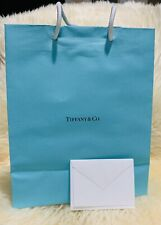 New Authentic Tiffany & Co Gift Bag w/ Embossed Gift Card