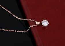 donna oro 18k COLLANA CON CIONDOLO COLLIER REGALO DIAMANTE PLACCATO ORO