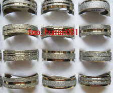 Fashion Jewelry Mixed Lots 50pcs Stainless Steel Rings 17-21mm