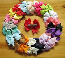 Wholesale 10pcs Multicolor Girl's Women's Ribbon Big Bowknot Hair Bow Hair Clips